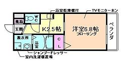 兵庫県川西市小戸3丁目の賃貸マンションの間取り