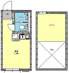 アモーレ和田町 2階ワンルームの間取り