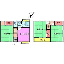[一戸建] 千葉県市川市下貝塚2丁目 の賃貸【/】の間取り