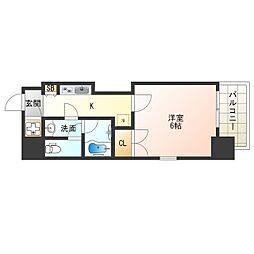 Osaka Metro御堂筋線 本町駅 徒歩7分の賃貸マンション 7階1Kの間取り