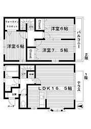 [テラスハウス] 東京都練馬区早宮3丁目 の賃貸【/】の間取り