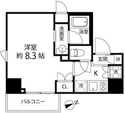 DeLCCS TOKYO BAY 4階1Kの間取り