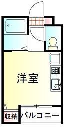 東武東上線 鶴ヶ島駅 徒歩3分の賃貸アパート 1階ワンルームの間取り