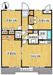 戸塚ウエスト・ウッド[1階]の間取り