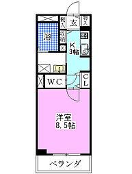 パークアクシス西船橋[3階]の間取り