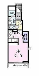 JR東海道本線 岡崎駅 徒歩33分の賃貸アパート 1階ワンルームの間取り