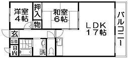 ハイムモリシタ[5階]の間取り