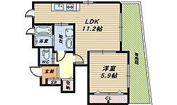 大阪府和泉市舞町の賃貸アパートの間取り