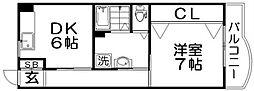 香里ニューハイツNO3[5階]の間取り