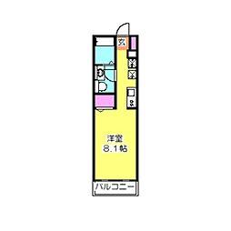 メゾン・ド・ソレイユ日吉III[205号室]の間取り
