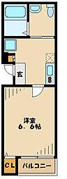 東急東横線 日吉駅 徒歩11分の賃貸アパート 2階1Kの間取り