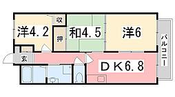 ベルトピア東加古川[302号室]の間取り
