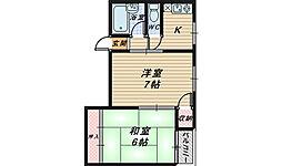 シティハイム浅香[1階]の間取り