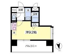 レジデンス箱崎[1107号室]の間取り