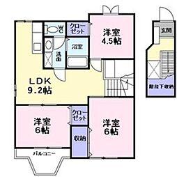 リラゲ−ブルズ[2階]の間取り