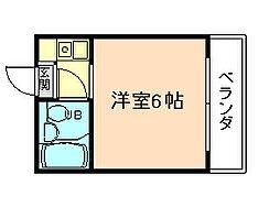 大阪府大阪市西淀川区姫島5丁目の賃貸マンションの間取り
