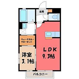 メゾン・ド・MK E 2階1SKの間取り
