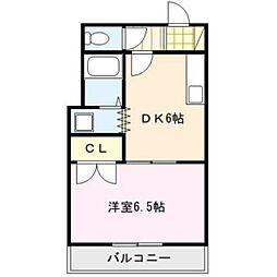 ピュアクローネⅠ[2階]の間取り