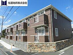 愛知県豊橋市大岩町字沢渡の賃貸アパートの外観