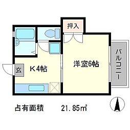 松ヶ崎レジデンス[2階]の間取り
