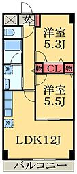 千葉県千葉市緑区土気町の賃貸マンションの間取り