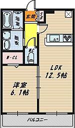 アステール野江[1階]の間取り