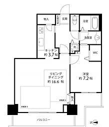 河田町コンフォガーデン1号棟[3階]の間取り
