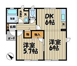 エスポワール鎌倉[101号室]の間取り