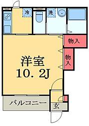 東葉高速鉄道 船橋日大前駅 徒歩4分の賃貸アパート 1階1Kの間取り