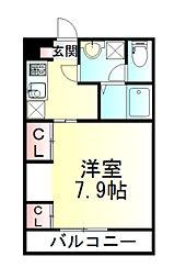 東武東上線 朝霞駅 徒歩14分の賃貸マンション 1階1Kの間取り