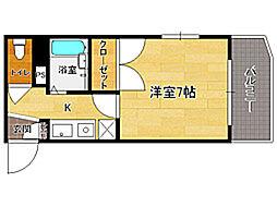シャトレ21大手門[7階]の間取り