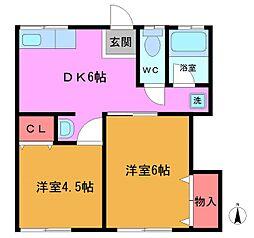 [一戸建] 千葉県船橋市西船4丁目 の賃貸【/】の間取り