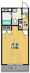 シティ咲田[302号室]の間取り