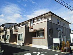 神奈川県伊勢原市上粕屋の賃貸アパートの外観