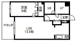 アパタワーズ札幌大通公園[1021号室]の間取り