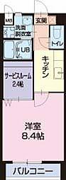 滋賀県湖南市水戸町の賃貸アパートの間取り