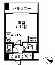 レジディア三越前[12階]の間取り