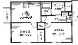 神奈川県川崎市宮前区宮崎の賃貸アパートの間取り