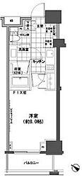東京メトロ日比谷線 小伝馬町駅 徒歩4分の賃貸マンション 7階1Kの間取り