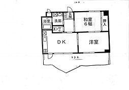 メゾンドール桜坂[102号室]の間取り