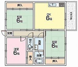 旭ヶ丘コーポ[2階]の間取り