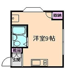 ハイツ福島[5階]の間取り