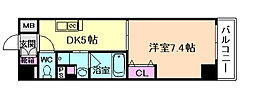 ボヌール梅田[9階]の間取り