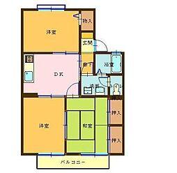 新潟県三条市島田3丁目の賃貸アパートの間取り