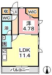Altura 2階1LDKの間取り