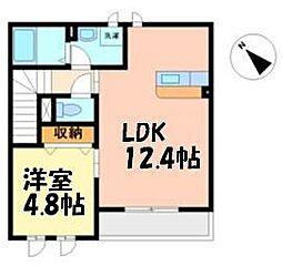 Epoch・K 2階1LDKの間取り