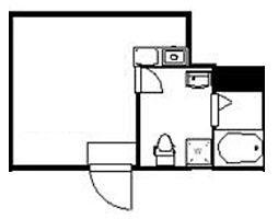 (仮称)クレサージュ町屋 2階ワンルームの間取り