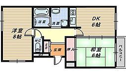 シャトーグロワール[3階]の間取り