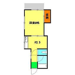 小林アパート[16号室]の間取り