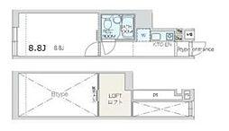 JR埼京線 板橋駅 徒歩4分の賃貸マンション 1階1Kの間取り